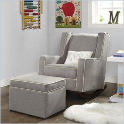 Dorel Asia Baby Relax Abby Storage Ottoman in Dark Taupe
