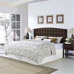 Dorel Living King Tufted Panel Headboard in Brown
