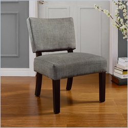 Dorel Asia Living Linen Open Back Accent Chair in Gray