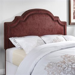 Dorel Living Ella Arched Panel Headboard in Burgundy