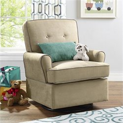 Dorel Asia Baby Relax Tinsley Swivel Glider in Beige