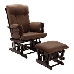 Dorel Living Glider Rocking Chair and Ottoman in Espresso