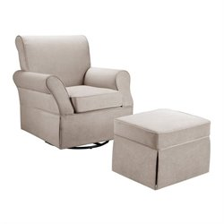 Dorel Living Swivel Glider and Ottoman in Beige