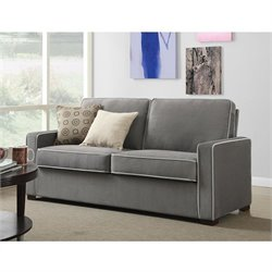 Dorel Living Powell Two-Toned Sofa in Gray