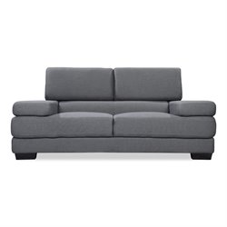 Capsule Hopper Sofa in Gray Tweed