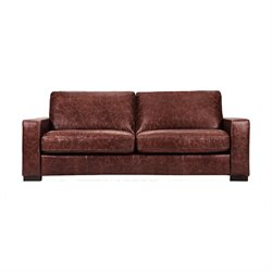 Capsule Volo Design Cooper Leather Sofa in Distressed Brown