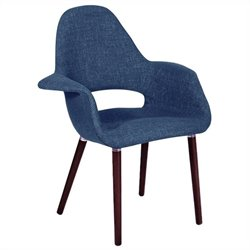 Volo Design Crosby Chair in Navy and Walnut