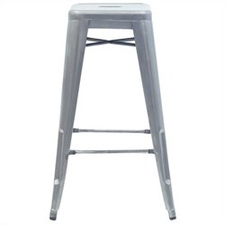 Volo Design Promenade Stool in Galvanized (Set of 2)
