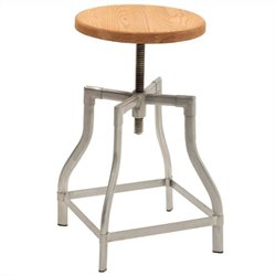 Volo Design Harris Stool in Natural Ash and Steel