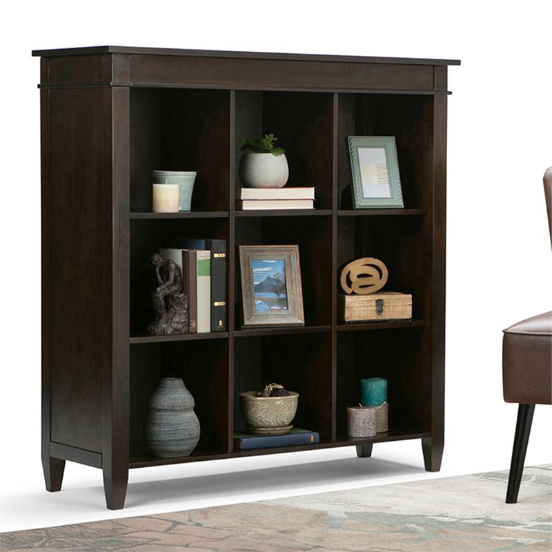 9 cube storage unit in tobacco brown 3axccrl 07. Black Bedroom Furniture Sets. Home Design Ideas