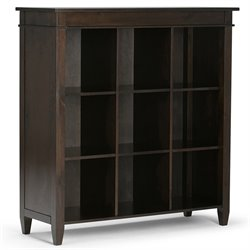 Simpli Home Carlton 9 Cube Storage Unit in Tobacco Brown
