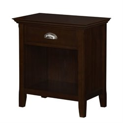 Simpli Home Acadian Nightstand in Tobacco Brown