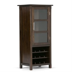 Wine Rack Cabinet in Tobacco Brown