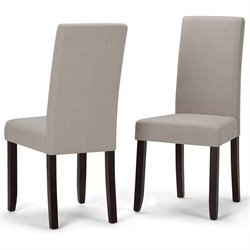 Simpli Home Acadian Parson Dining Chair in Natural (Set of 2)