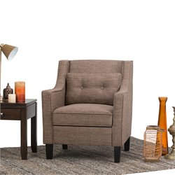Club Chair in Fawn Brown
