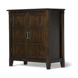 Simpli Home Burlington Accent Chest in Espresso Brown