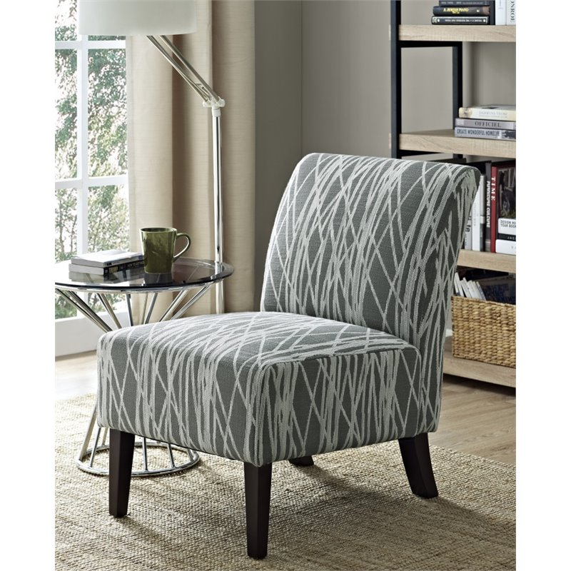 Accent Chair In Gray And White Axcchr 008 G