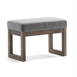 Small Living Room Bench in Gray