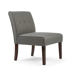 Simpli Home Sallybrook Accent Chair in Gray