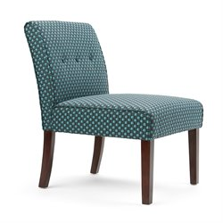 Simpli Home Sallybrook Accent Chair in Teal