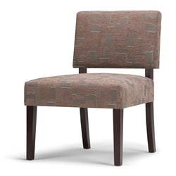 Simpli Home Virginia Mid Century Accent Chair in Brown
