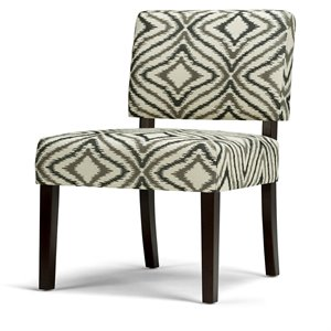 Pattern Accent Chair in Gray