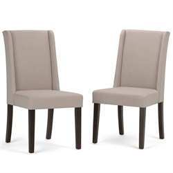 Simpli Home Sotherby Deluxe Dining Chair in Natural (Set of 2)