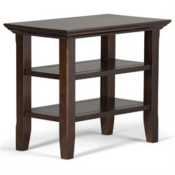 Narrow End Table in Tobacco Brown
