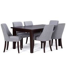 7 Piece Dining Set in Gray