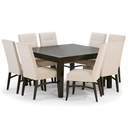 9 Piece Square Dining Set in Natural