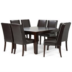 9 Piece Square Dining Set in Tanners Brown