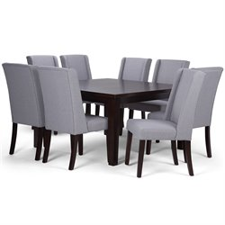 9 Piece Square Dining Set in Dove Gray