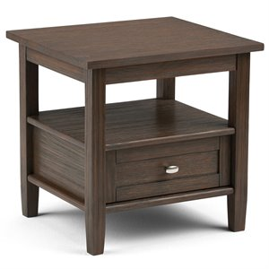 End Table in Farmhouse Brown