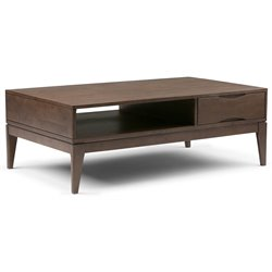 Simpli Home Harper Coffee Table in Walnut Brown