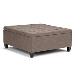 Simpli Home Harrison Storage Coffee Table Ottoman-SH12