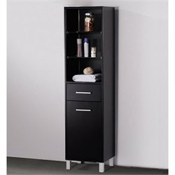 Fresca Bathroom Linen Side Cabinet in Espresso
