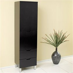 Fresca Bathroom Linen Side Cabinet with Storage Areas in Espresso
