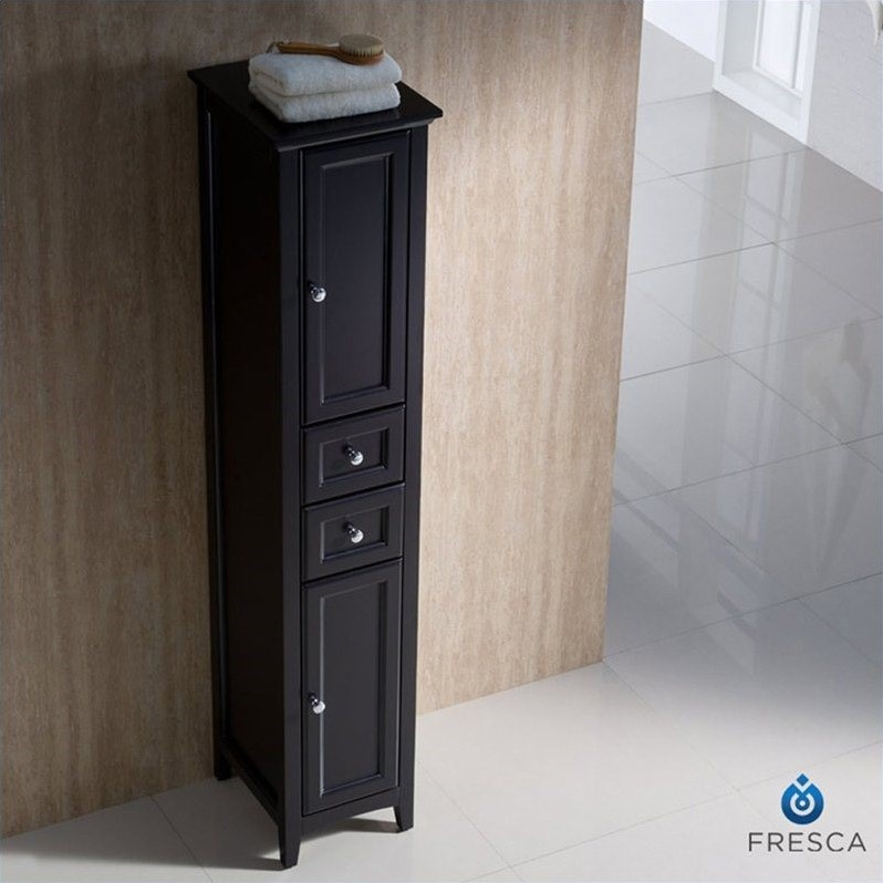 fresca oxford bathroom linen cabinet in espresso 16168