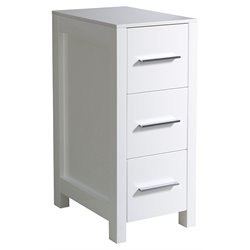 Fresca Torino Bathroom Linen Side Cabinet in White