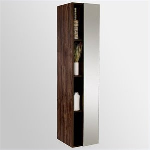 Fresca Senza Bathroom Linen Side Cabinet with Cubby Holes in Walnut