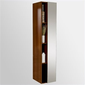 Fresca Senza Bathroom Linen Side Cabinet with Cubby Holes in Teak
