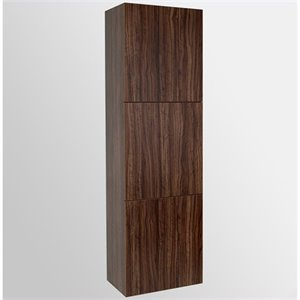 Fresca Senza Bathroom Linen Side Cabinet with Large Storage Areas in Walnut
