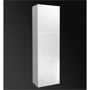 Fresca Senza Bathroom Linen Side Cabinet with Large Storage Areas in White