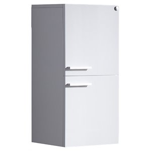 Fresca Senza Bathroom Linen Side Cabinet with Storage Areas in White