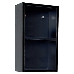 Fresca Senza Bathroom Linen Side Cabinet with Open Storage Areas in Black