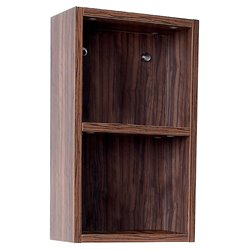 Fresca Senza Bathroom Linen Side Cabinet with Open Storage Areas in Walnut