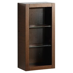 Fresca Trieste Bathroom Linen Side Cabinet with Glass Shelves in Wenge Brown