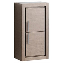 Fresca Trieste Bathroom Linen Side Cabinet with Doors in Gray Oak