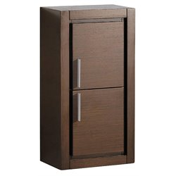 Fresca Trieste Bathroom Linen Side Cabinet with Doors in Wenge Brown