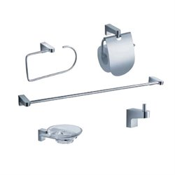 Fresca Generoso 5 Piece Bathroom Accessory Set in Chrome